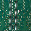 Memory chip circuit board detail by homydesign