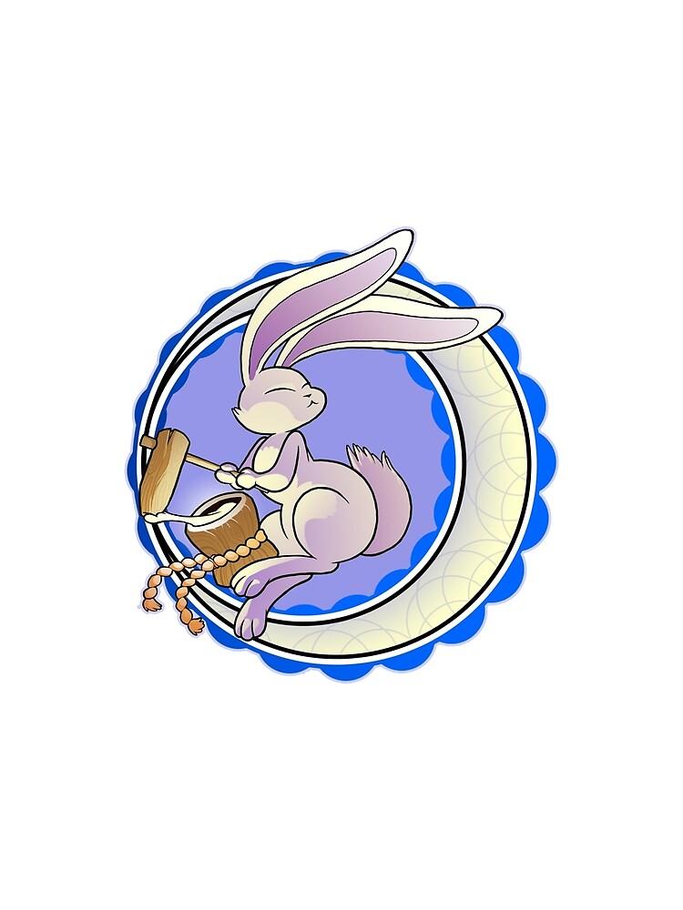 Mochi Moon Rabbit by MaxSteiner