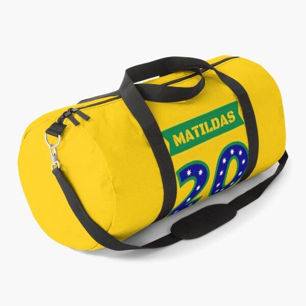 matildas soccer merchandise original gold no.20 Duffle Bag