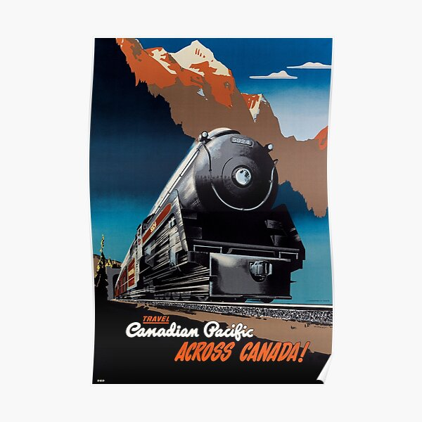 TRAVEL CANADIAN PACIFIC ACROSS CANADA! 1951 Poster