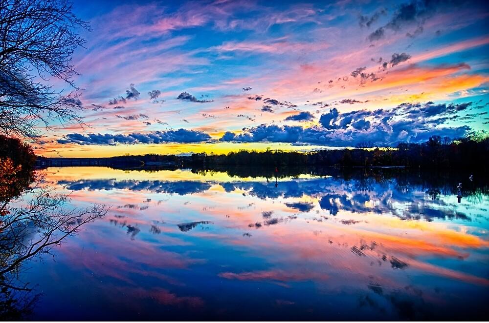 beautiful autumn sunset by ALEX GRICHENKO