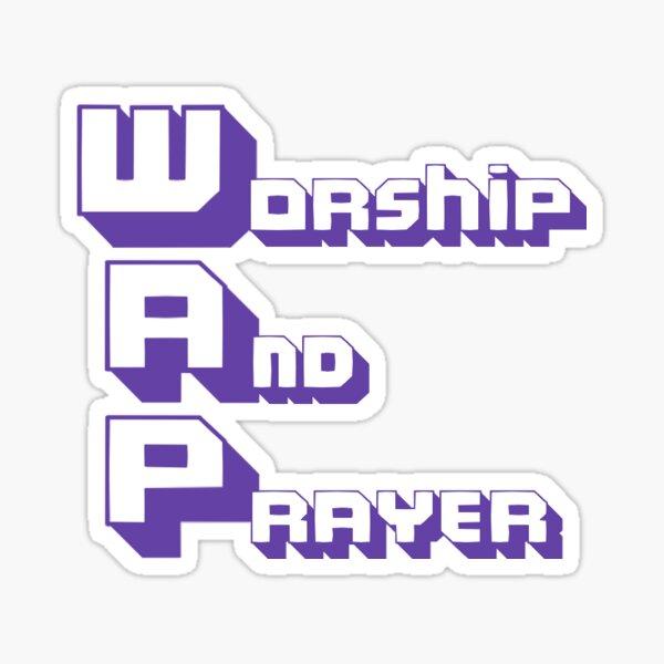 Adoration et prière Sticker