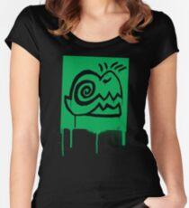 Graffiti Dino Women's Fitted Scoop T-Shirt