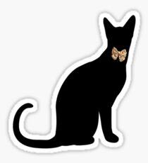 cool cat in a tux Sticker