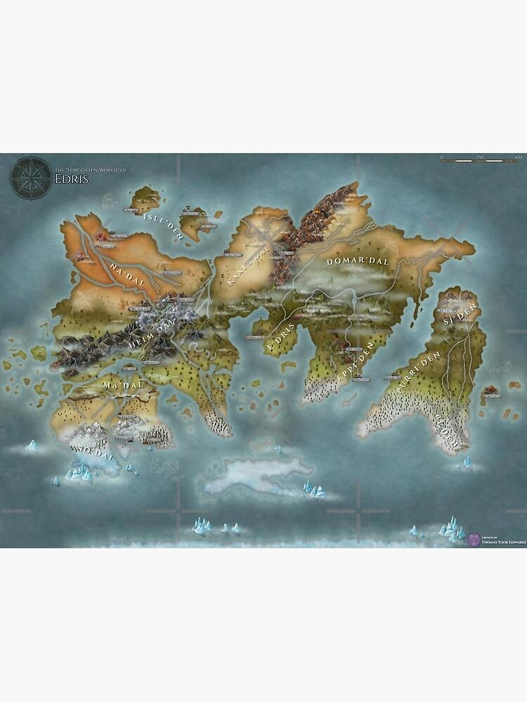 Map of Edris - Remastered by zuperbuuworks