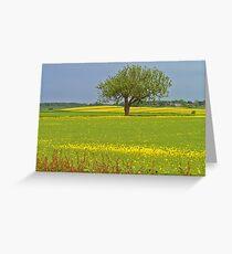 East Yorkshire Rape Field Greeting Card