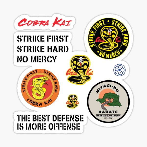 Cobra Kai - Logos and Quotes Pack Sticker