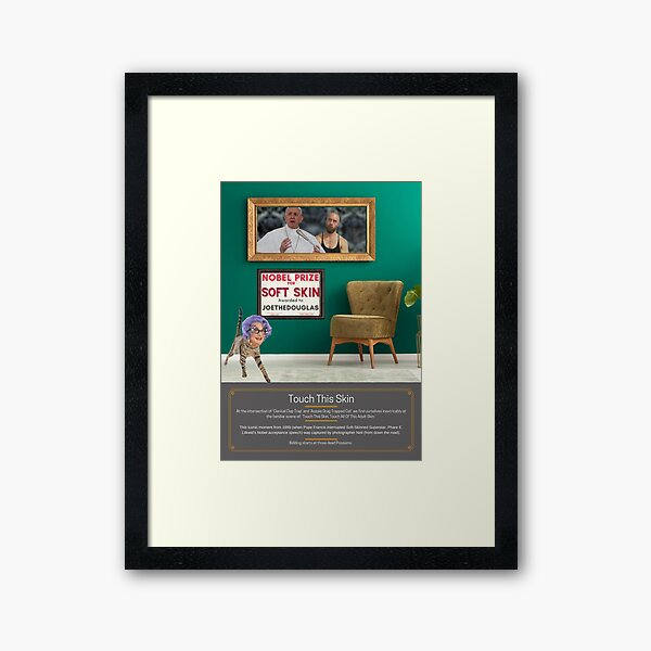 Touch This Skin - Incongruous Modelling 11 Framed Art Print