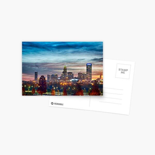 charlotte north carolina skyline morning sunrise Postcard