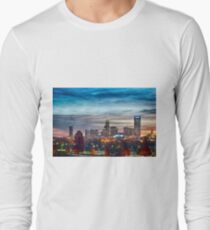 charlotte north carolina skyline morning sunrise Long Sleeve T-Shirt
