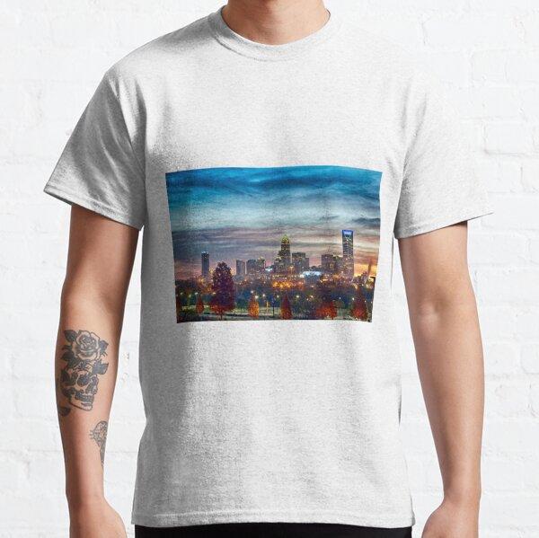 charlotte north carolina skyline morning sunrise Classic T-Shirt