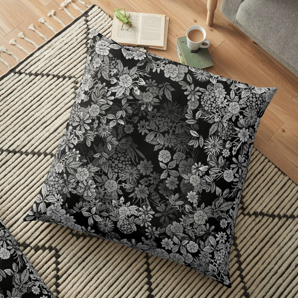 Floral Time Floor Pillow
