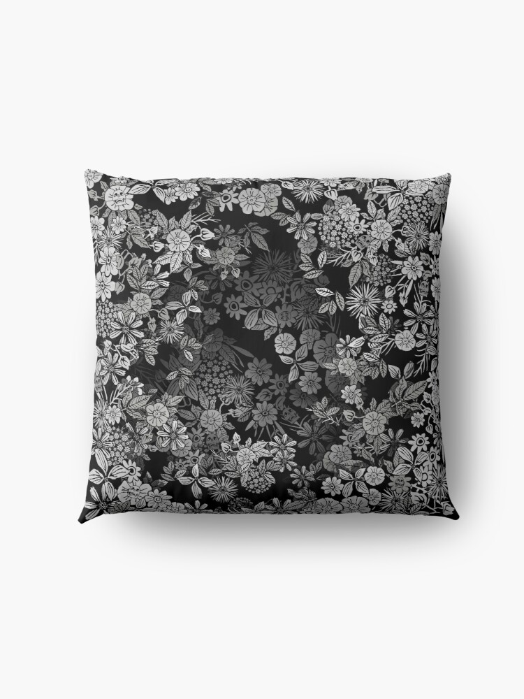 Alternate view of Floral Time Floor Pillow