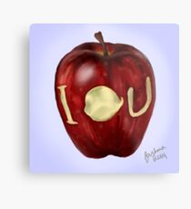 Moriarty IOU apple- BBC Sherlock Metal Print