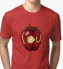 Moriarty IOU apple- BBC Sherlock Tri-blend T-Shirt