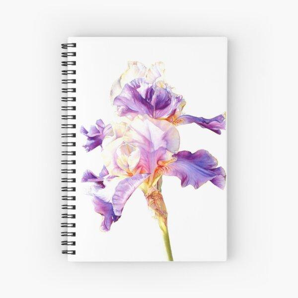 Botanical Iris watercolor #3 Spiral Notebook