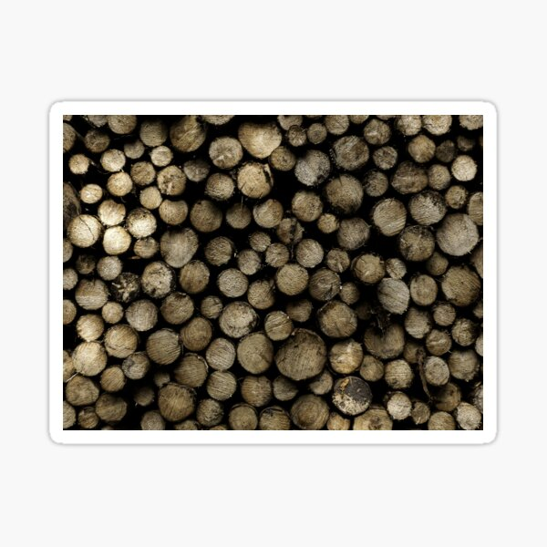 The Logs Nordic Elements Timber Stack Fir Wood Nordic Noir Edition Sticker