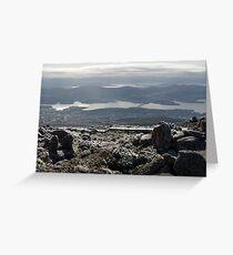 frosty winter landscape Greeting Card