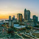 charlotte north carolina skyline evening sunset by ALEX GRICHENKO