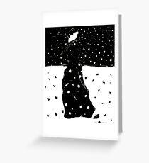 Snowy Stroll Greeting Card