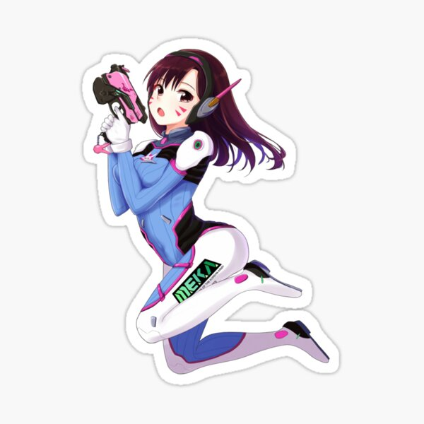 Overwatch anime fan art Sticker