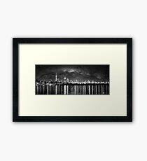 Milkyway and Auckland Skyline Framed Print
