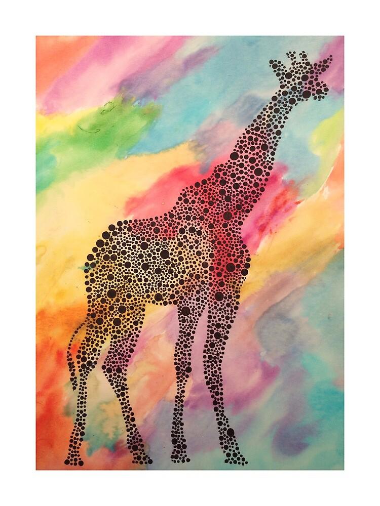Tie-Dye Giraffe  by devancurrao