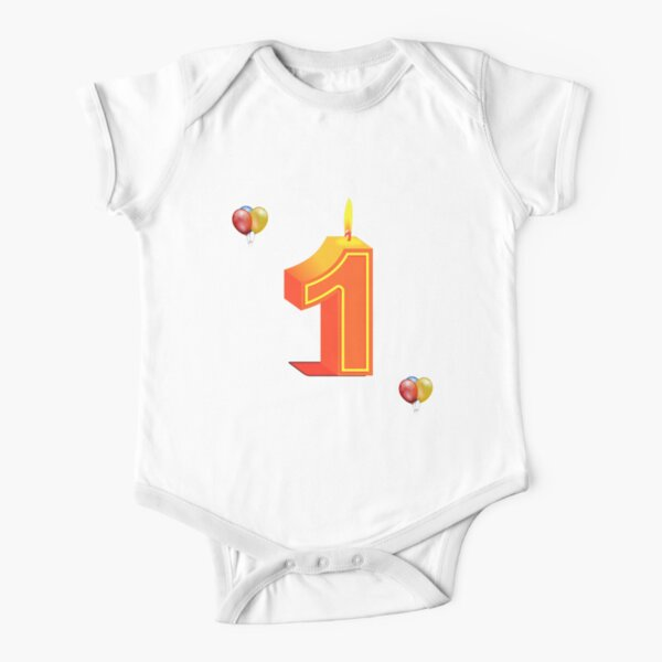 One 1 Short Sleeve Baby One-Piece