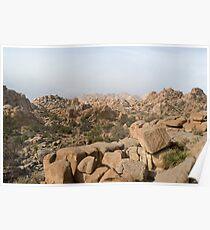 rocky desert mountains Poster