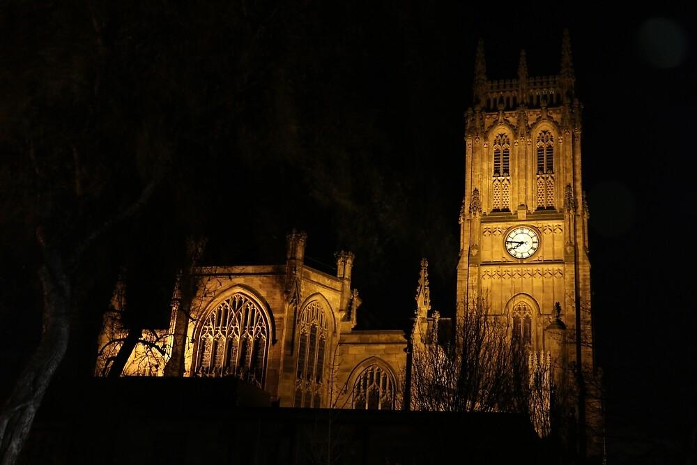 Leeds By Night #1 - Parish Church  by Graham Geldard