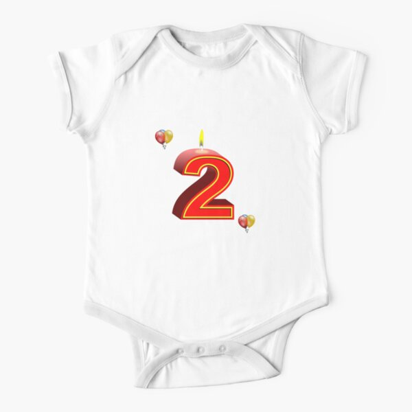 Two 2 Short Sleeve Baby One-Piece