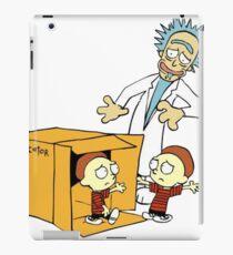 Rick and Morty Calvin and Hobbes mashup iPad Case/Skin