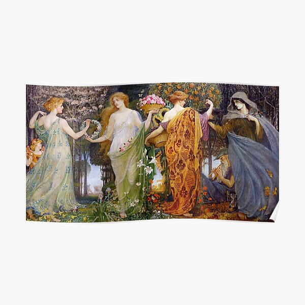 A Masque for the Four Seasons Walter Crane Poster