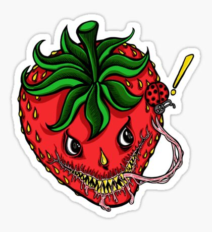 Sinister Strawberry Sticker