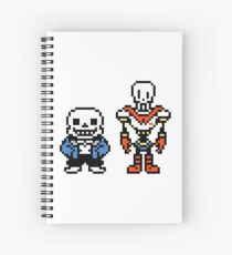 sans x papyrus spiral notebooks redbubble