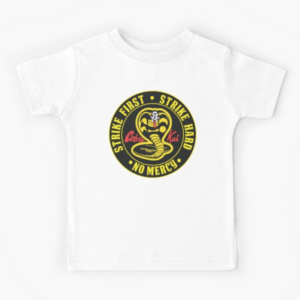 Cobra Kai Shirt T-Shirt Karate Kid Decal Emblem Patch Costume Youth Kids Apparel