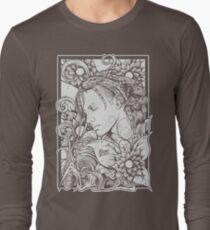 Girl Flowers Long Sleeve T-Shirt