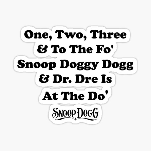 1 2 3 And To The 4 Snoop Dogg Lyrics Home Collection