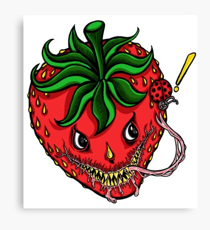 Sinister Strawberry Canvas Print