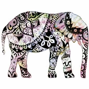 Colorful Elephant - A by avalonmedia
