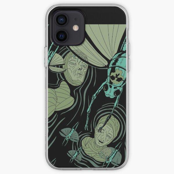 decoration illustration momie egyptien insecte peste Coque souple iPhone