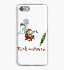 Calvin and Hobbes, Rick and Morty iPhone Case/Skin
