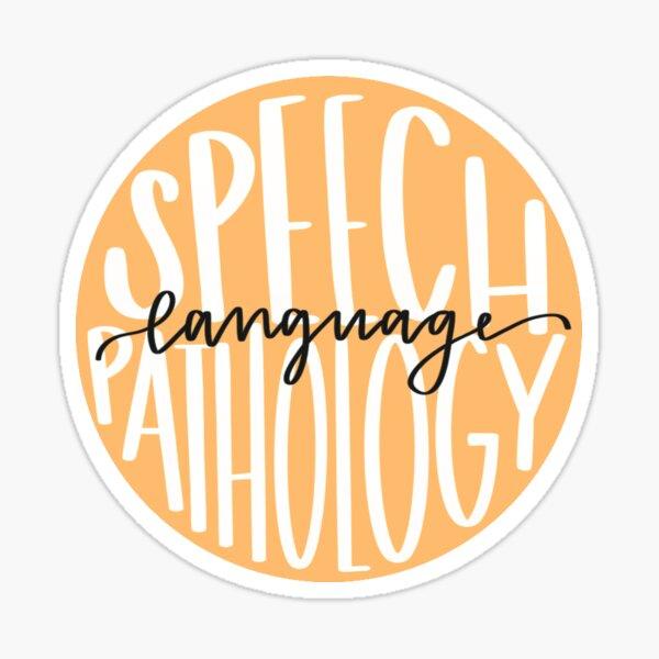 speech-language pathology Sticker