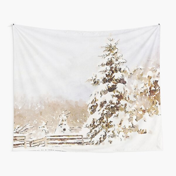 A Winter Sentinel Tapestry