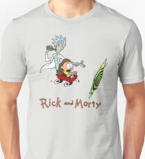 Calvin and Hobbes, Rick and Morty Unisex T-Shirt
