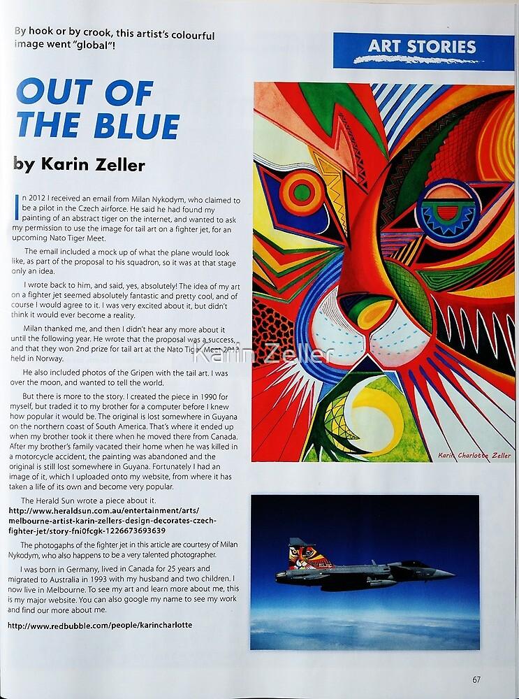 I'm in Australina Artist Magazine January 2016 issue by Karin Zeller