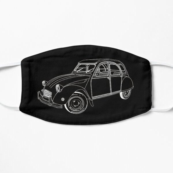 2CV, le canard, voiture française, voiture classique Masque sans plis