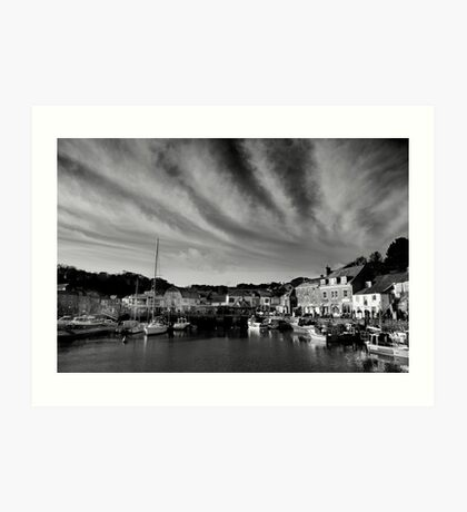 Padstow Skies in Black and White Art Print