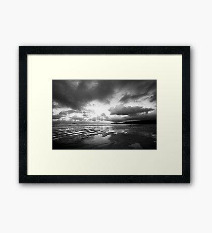Harlyn Bay in Black and White Framed Print