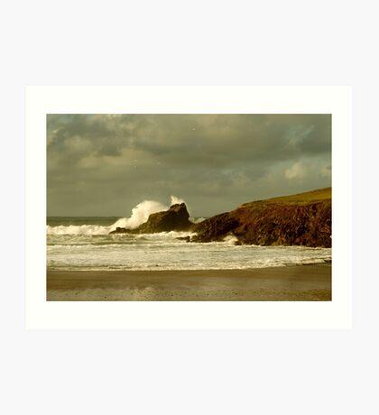 Surf Splash - Trevone Bay - Cornwall Art Print